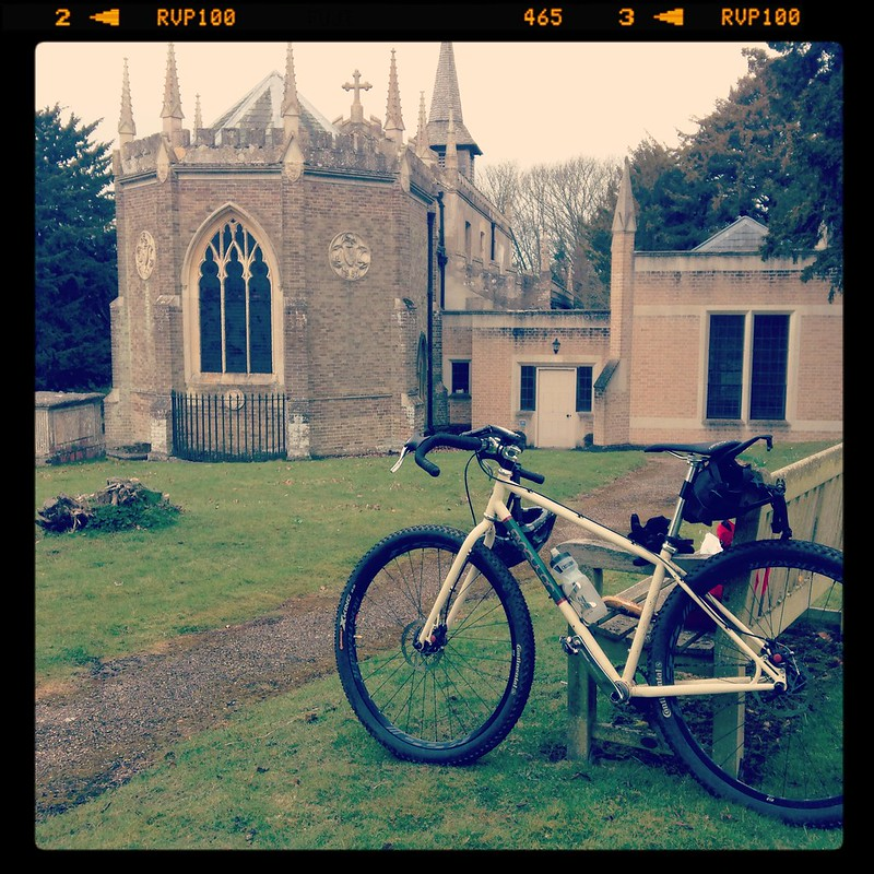 Lunch stop at Debden Church.