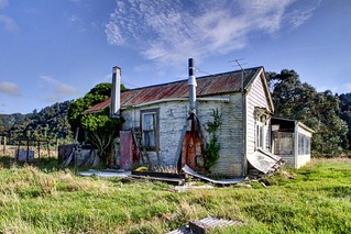 Old house, Humphreys, Arahura Valley, West Coast, New Zealand