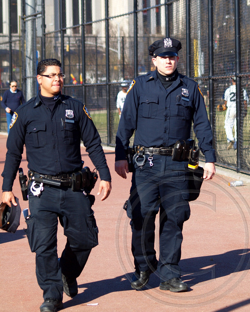Cop Goes Viral Photo Of New York City: NYPD Police Officers, Yankee Stadium, Bronx, New York City