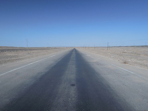 向かい風の道