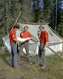 Junior Forest Wardens orienteering, Blue Lake, Alberta
