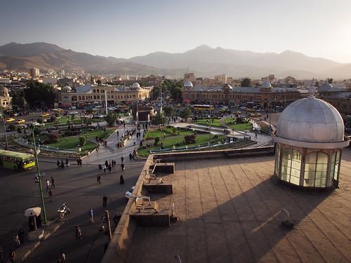 travel traveling middleeast iran hamadan roof rooftop sunset city square mountains olympus em5 zuiko 1250