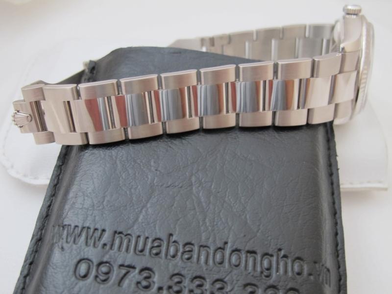 Bán đồng hồ Rolex day date 6 số 118209 – vàng trắng 18k – mặt hạt xoàn Độ – size 36mm