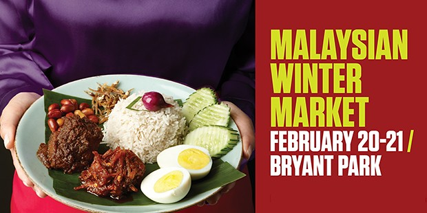 malaysian winter market in Bryant Park