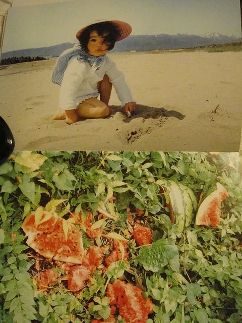08 夏日来临,明艳得像沙滩上的日头,绿地上的红瓤西瓜