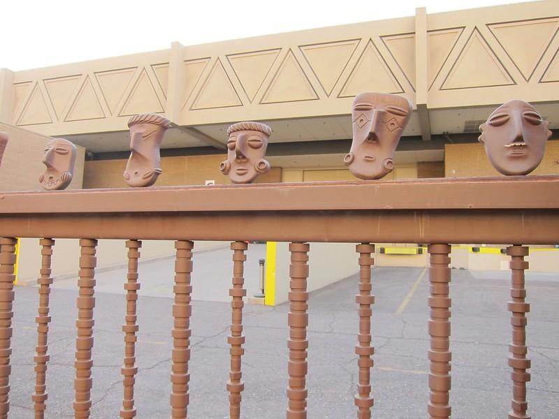 Masks on a Parking Gate