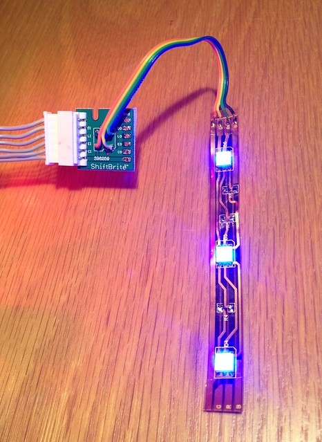 ShiftBrite hotrodded to drive LED strip