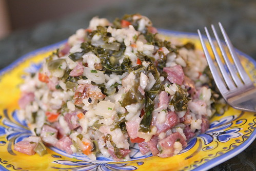Ham and Pepper Risotto