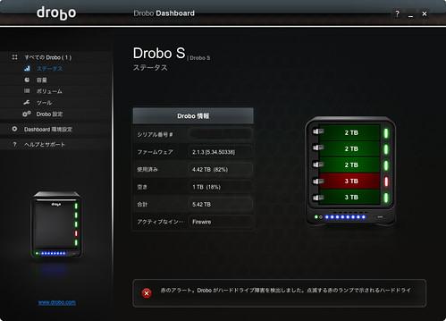 Drobo S status red
