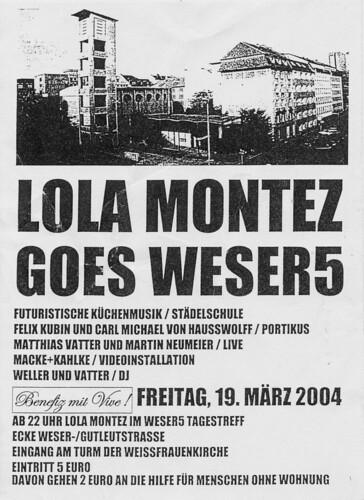 Flyer Lola Montez goes Weser5. März 2004