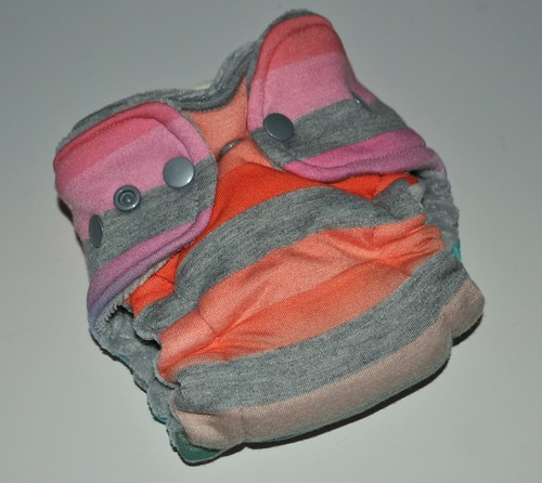 Bumstoppers Newborn   Tropical Sunset Hybird Fitted **New Style**
