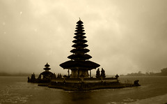 Ulun Danu Temple complex at Lake Bratan, Bedugul, Bali