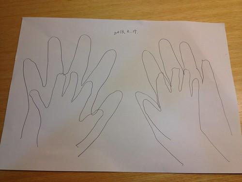 我和貝貝的手
