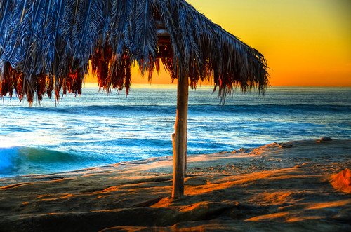 Windansea Sunset Palapa by nikonkell Kelly Wade Photography