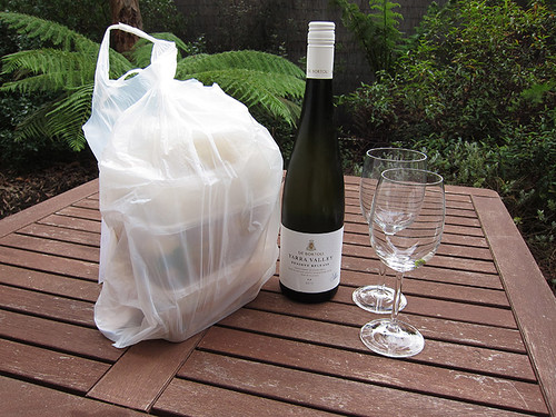 take out and Yarra Valley wine