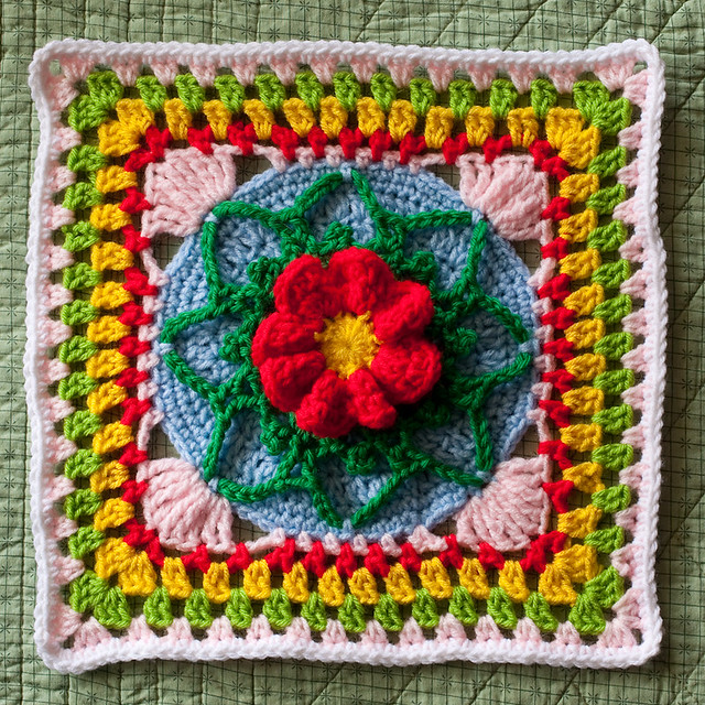 Cheerful Sampler Afghan