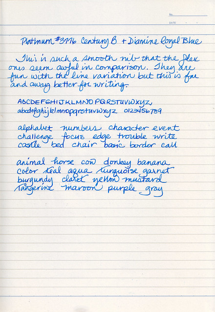 Platinum #3776 Century B Writing Sample