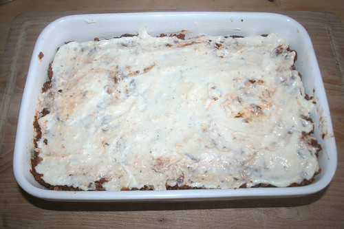 73 - Rest Bechamel auftragen / Add remaining bechamel