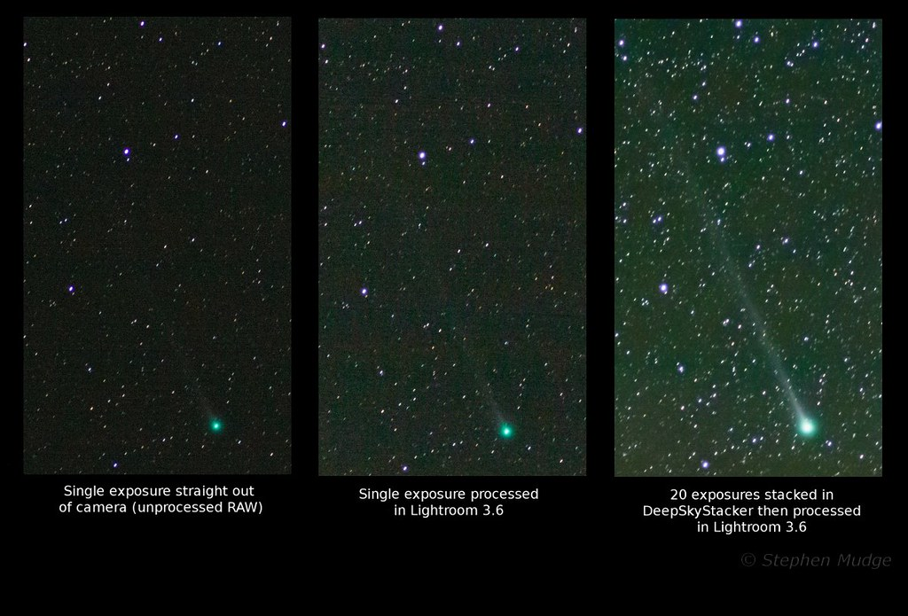 Comet Lemmon processed vs unprocessed small