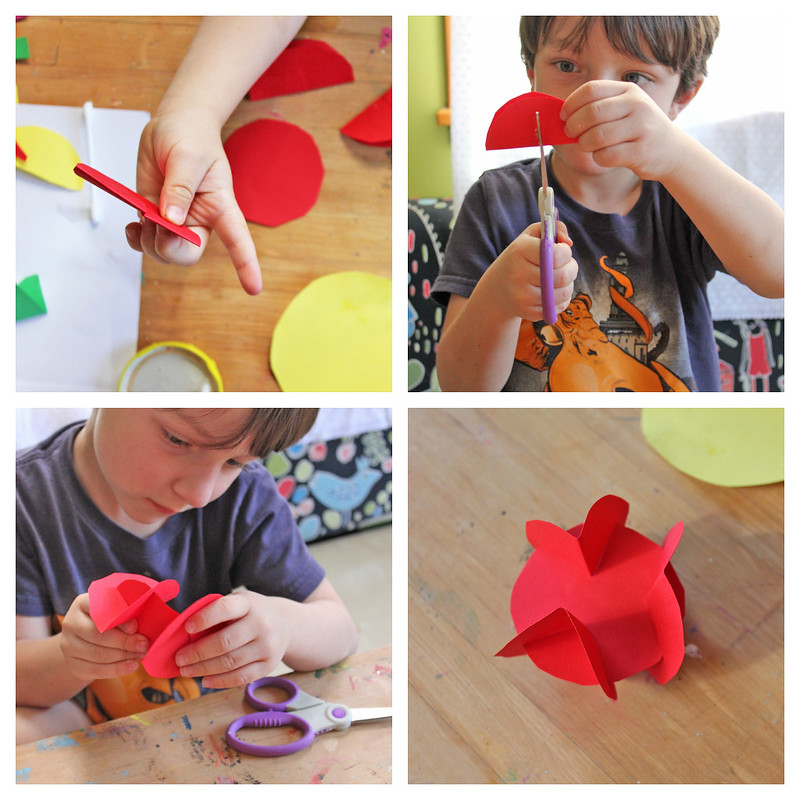 3D Paper Planets: A simple planet craft for kids that introduces them to the magic of turning a 2D material into a 3D object.