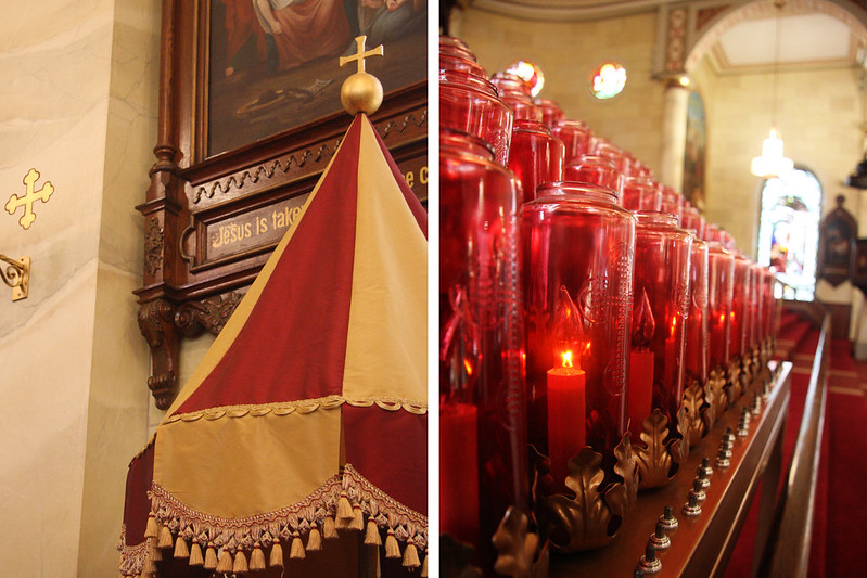 Umbraculum and Altar Candles