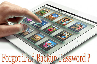 forgot iPad backup password