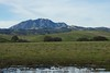 Zoomed look at Mount Diablo from the East, west of Antioch.