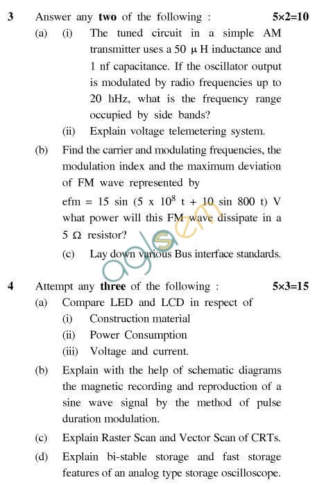 UPTU B.Tech Question Papers - EC-604-Measurements & Instrumentation