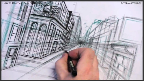 learn how to draw city buildings in perspective 029