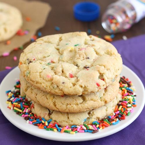 Birthday Cake Confetti Cookies