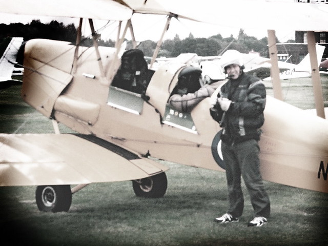 Jack in Flying Gear, Tiger Moth