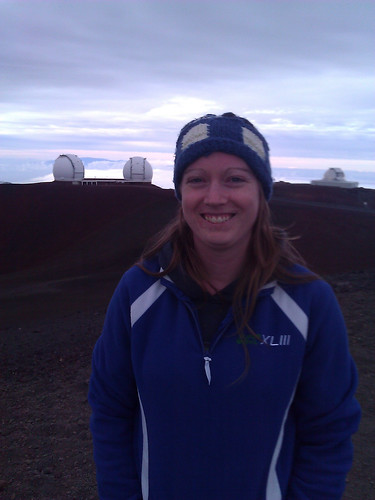 Korey Haynes with the Keck twin telescopes
