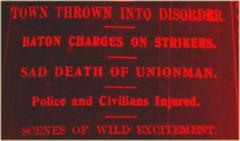Strike in 1913? Yes!  Dublin? No!