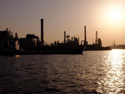Kawasaki Factory Sunset Scene