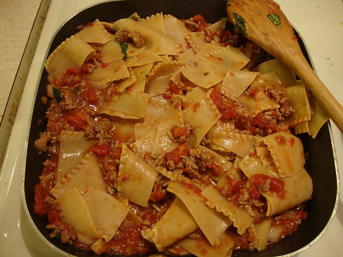 Hand-torn pasta alla bolognese