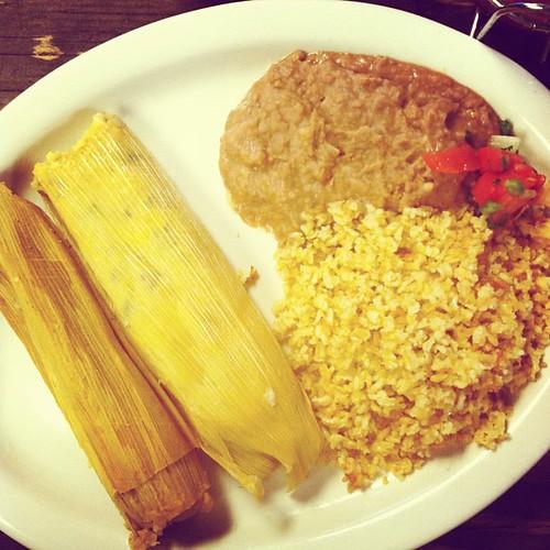 Delicious vegan tamales
