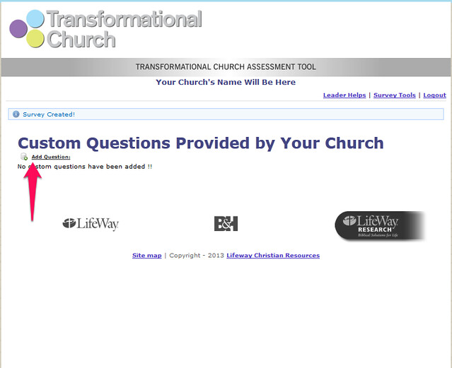 Add question in Custom Questions Window