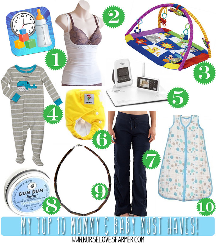 Top 10 Mommy Baby Must Haves