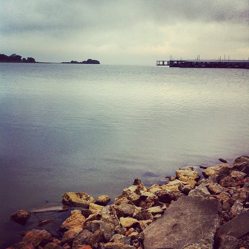 morning lake water grey rocks day texas unitedstates cloudy gray overcast shore ripples lewisville lakelewisville frisco