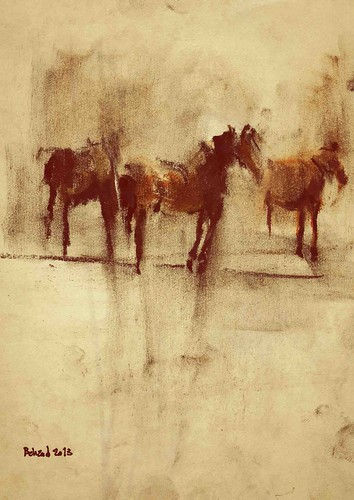 The Horses (6) by Behzad Bagheri Sketches