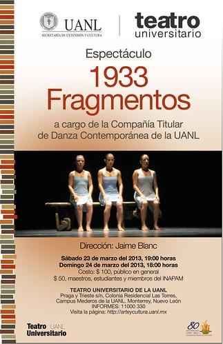 1933 Fragmentos de la Cía. Titular de Danza Contemporánea de la UANL