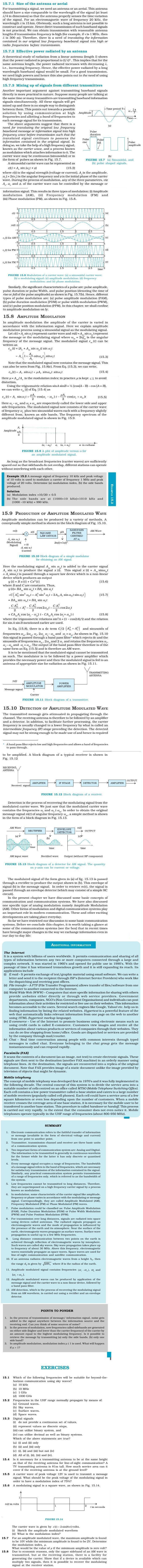 NCERT Class XII Physics Chapter 15 - Communication Systems
