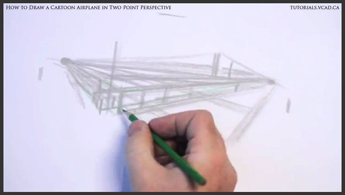 learn how to draw a cartoon airplane in two point perspective 005