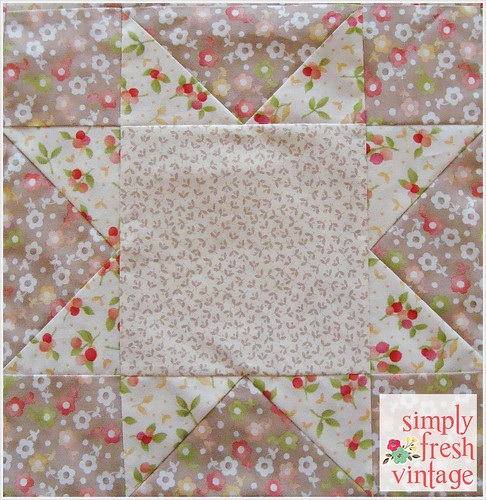 Sawtooth Star Block | Simply Fresh Vintage