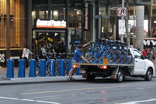 Relocating Melbourne Bike Share bicycles between stations