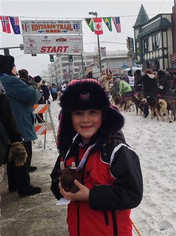 michael at start of Iditarod