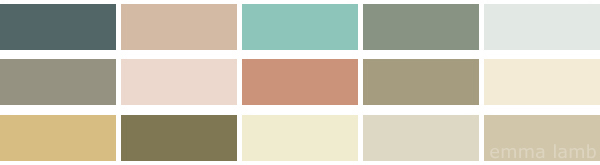 colour palette : whispers curated by Emma Lamb