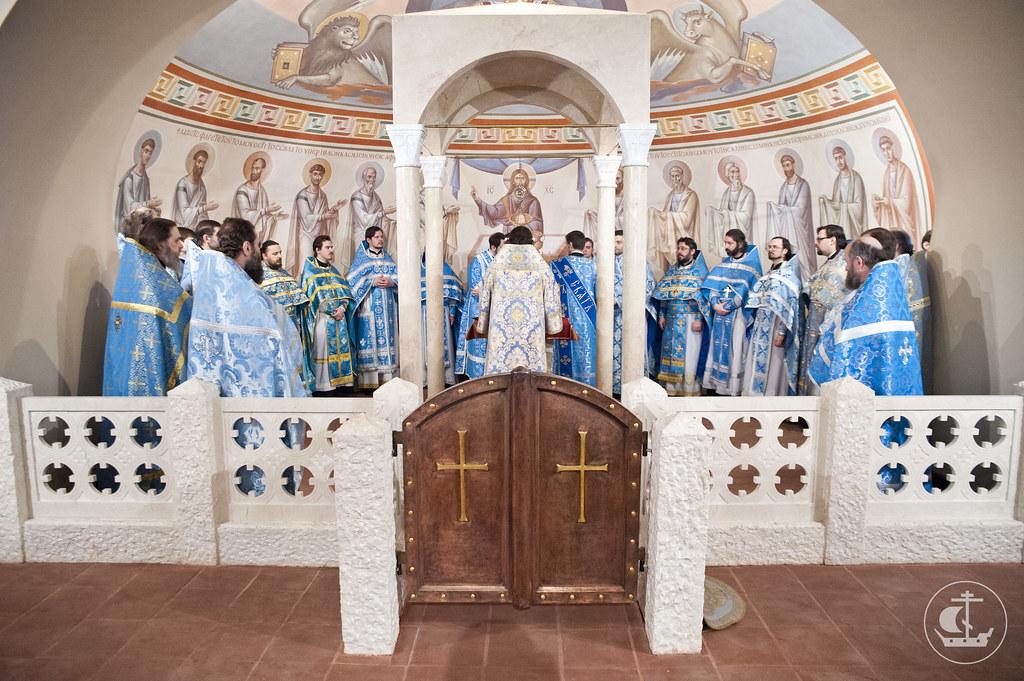 27 марта 2013, Малое освящение нижнего храма Феодоровского собора Петербурга