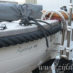 Zijlsloep optional gear: a foldable swim ladder, one of your choice. Standard on model Classic