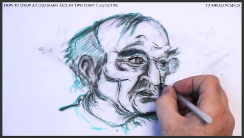 learn how to draw an old man's face in two point perspective 038